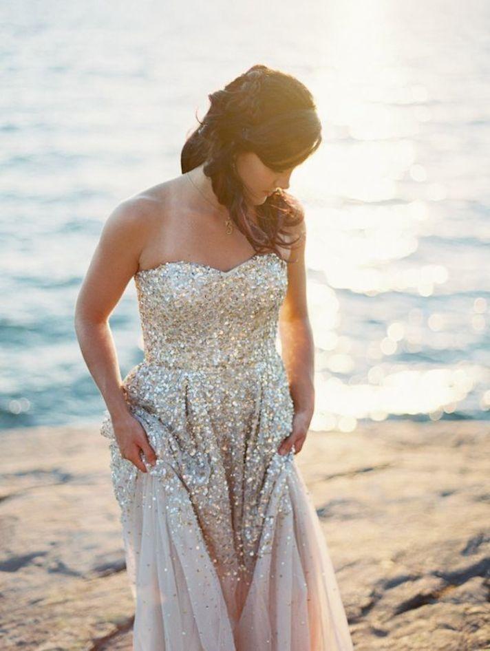 Lovely Sequin Wedding Dress