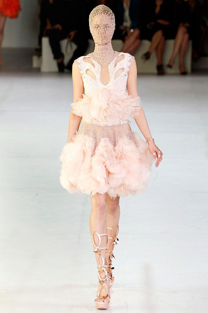 Light pink wedding reception dress by Alexander McQueen