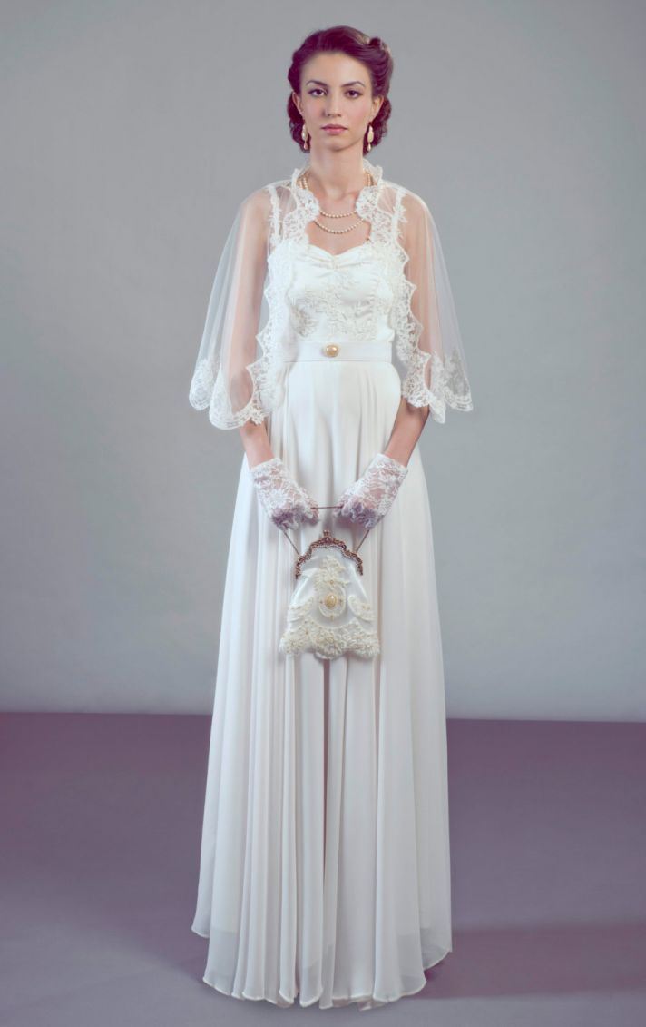 35 Statement Wedding Capes Shawls and CoverUps  OneWed