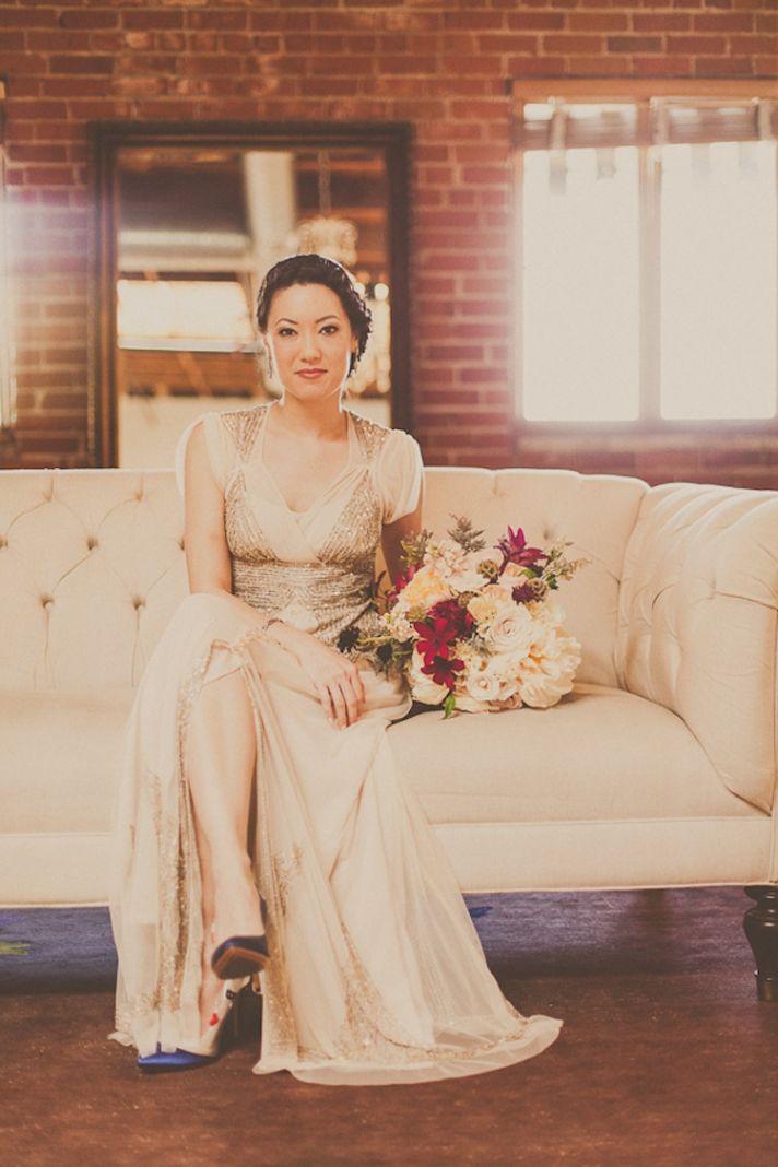 Vintage Sequin Wedding Dress