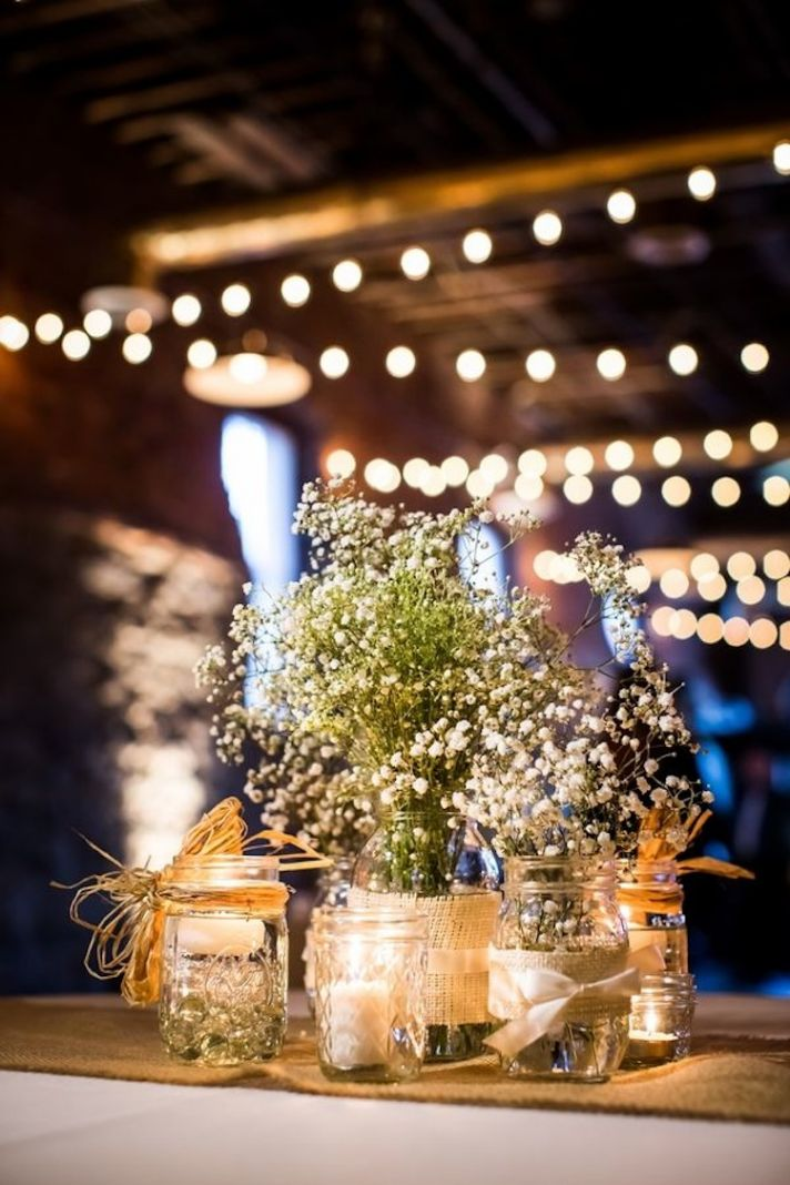 Wedding Decor Ideas Featuring The Beloved Mason Jar - crazyforus