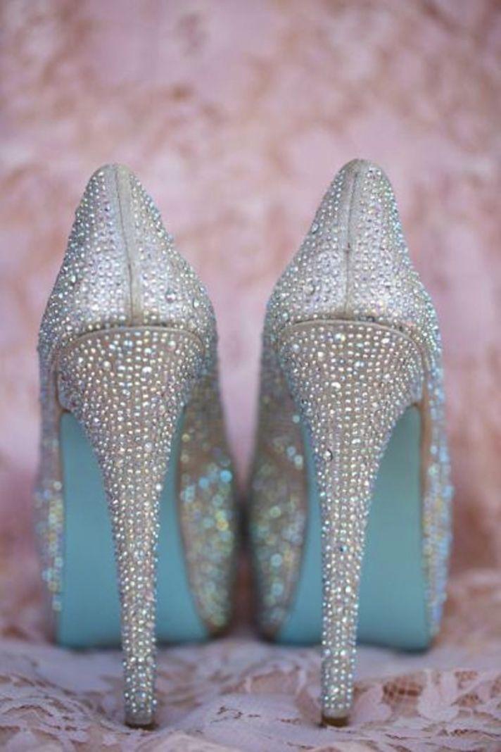 Blue Soles on Blue Wedding Shoes