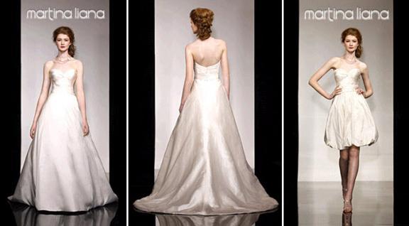 Gorgeous ivory Martina Liana convertible wedding dress with sweetheart neckline