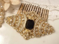 Vintage Bridal Hair Comb Art Deco | OneWed.com
