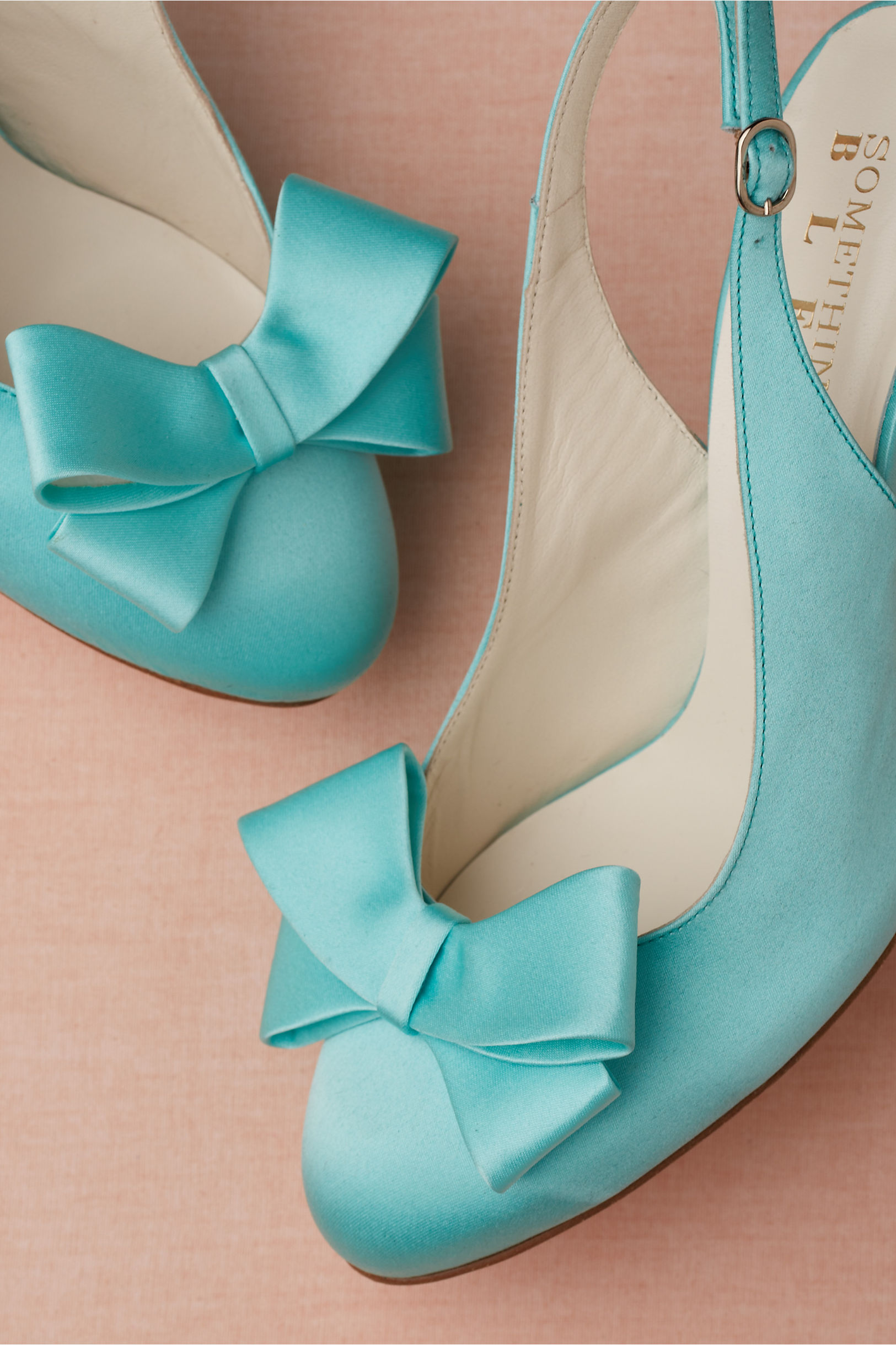 Turquoise Blue Wedding Shoes by BHLDN  OneWedcom