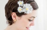 yellow wedding hair accessories white and yellow daisy ...