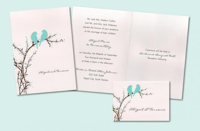 Wonderland Nature Inspired Wedding Rsvp Cards