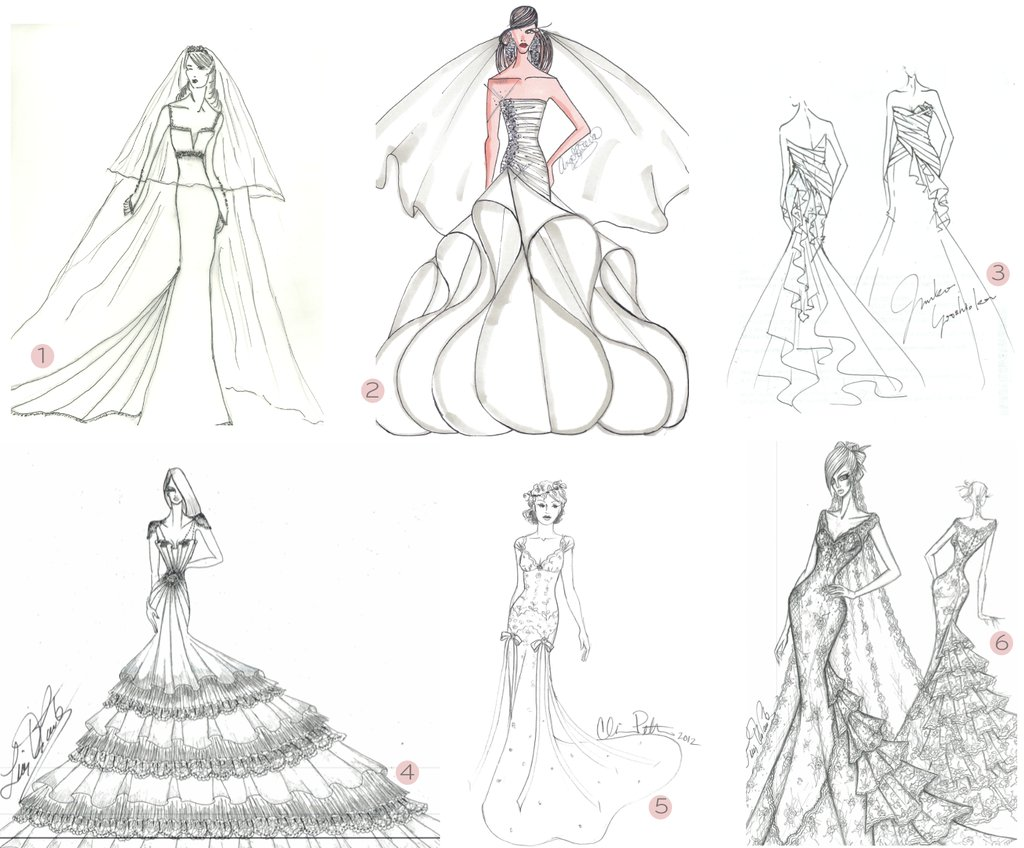 2012 wedding dresses anne hathaway bridal gown sketches