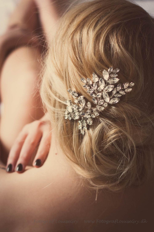 crystal rhinestone wedding hair
