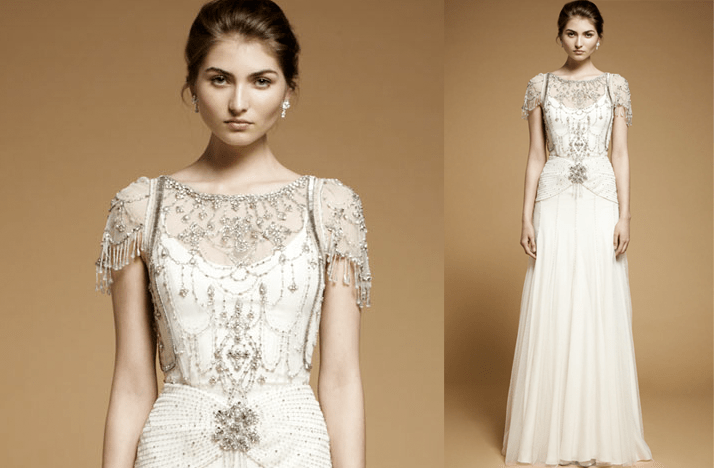 Vintage-inspired 2012 Bridal Gown With Embellished Cap