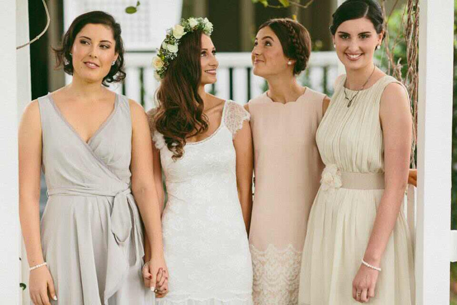 Lace Flutter Sleeve Wedding Dress With Scoop Neckline
