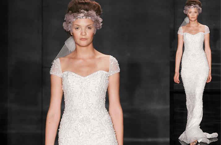 Cap Sleeves Wedding Dresses, 2012- Reem Acra