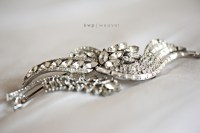 wedding hair brooch vintage wedding style wedding