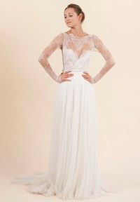 Rosa Clara wedding dress with sheer lace sleeves | OneWed.com
