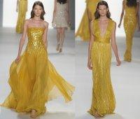 Mustard yellow bridesmaids dresses   OneWed.com