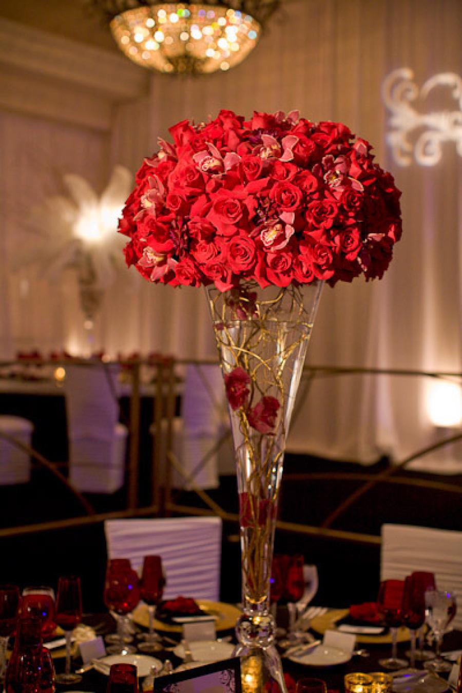 Topiary Centerpieces Topiaries And Red Roses