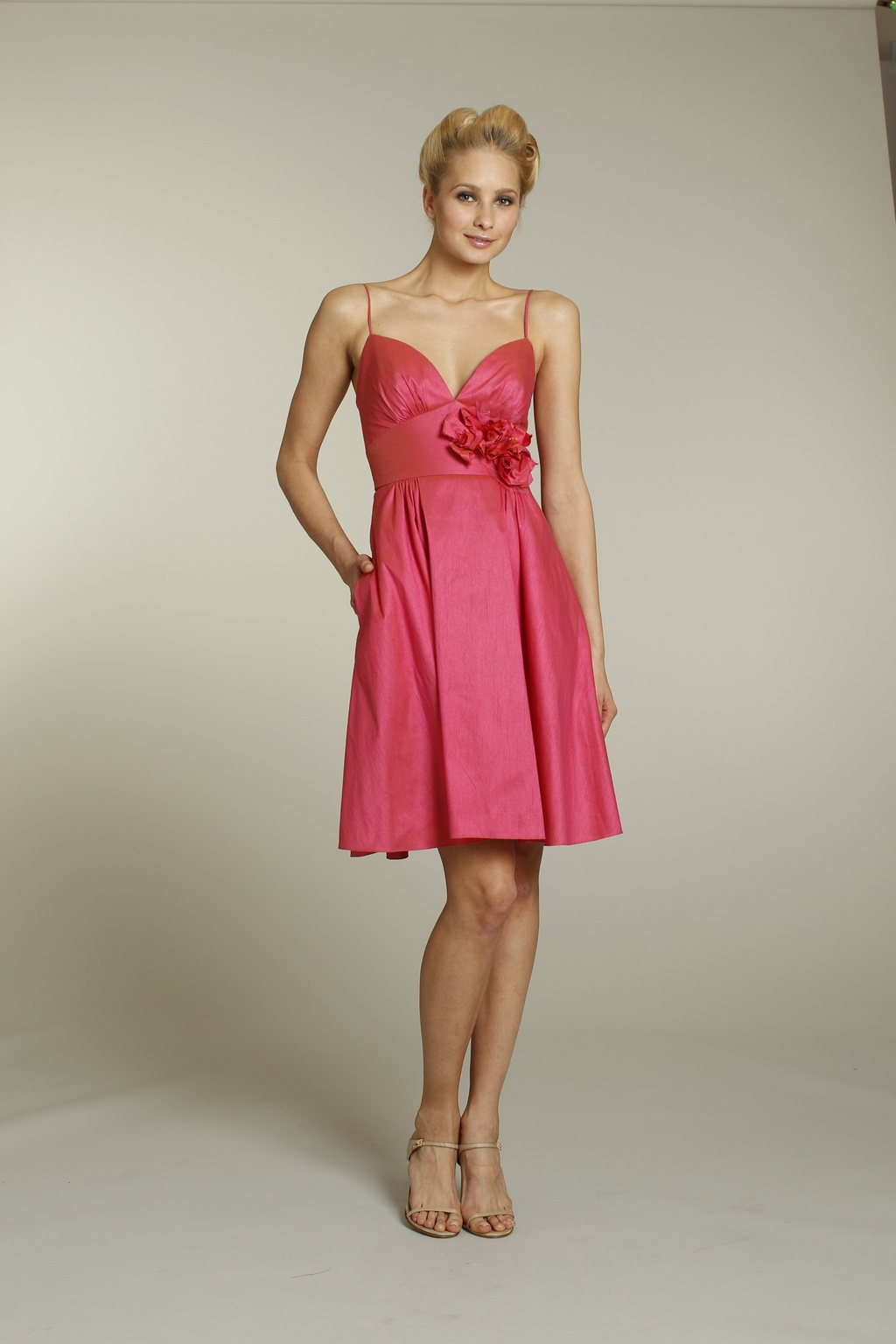 Pink Summer Bridesmaid Dress