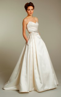 Classic ivory silk a-line wedding dress with embellished ...