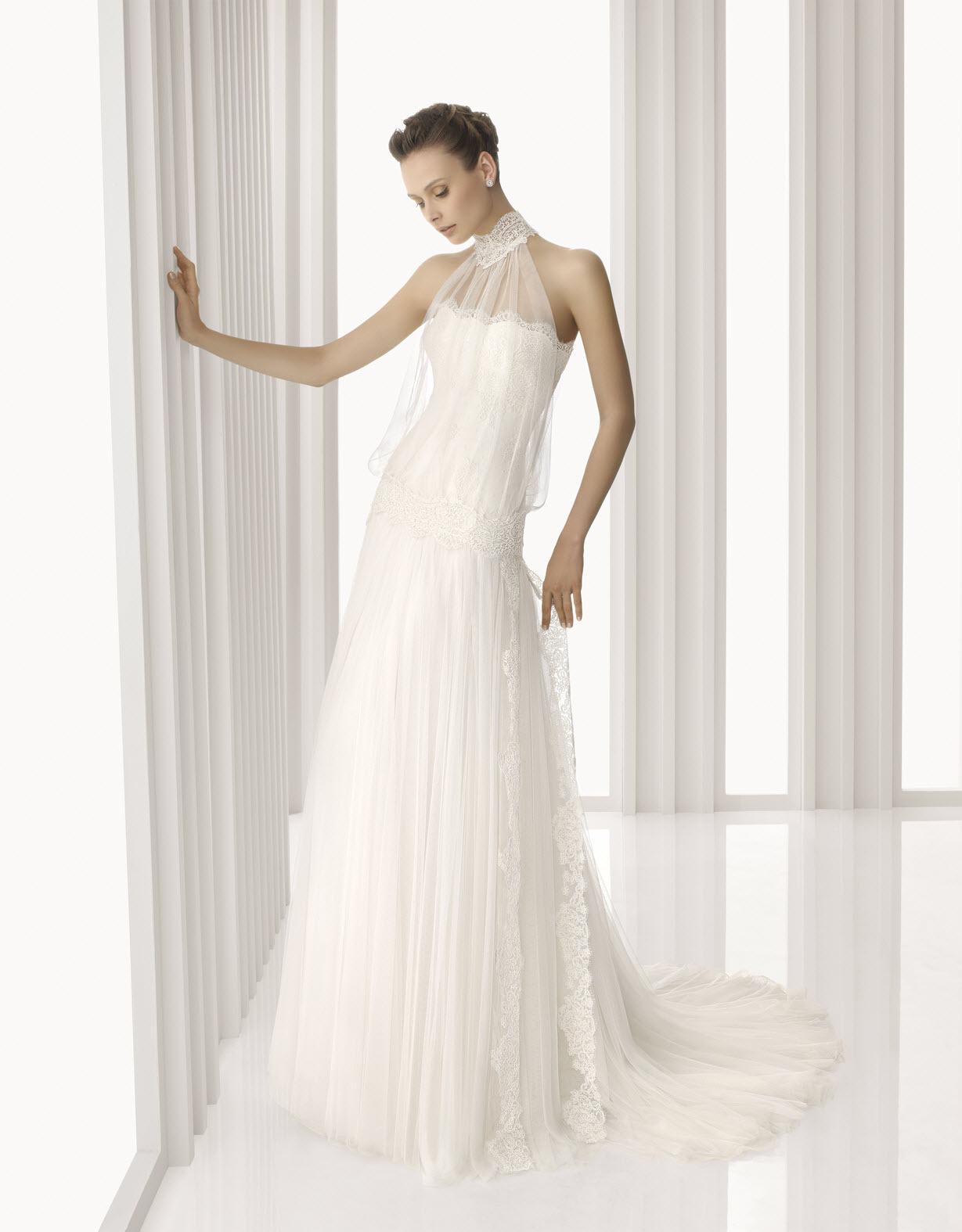 Turtle Neck Wedding Dress Patience Plus Size Wedding Dress Style