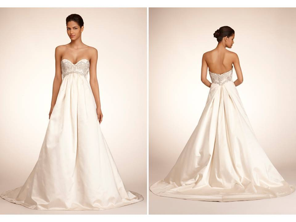 Ivory Ballgown With Empire Waist And Sweetheart Neckline