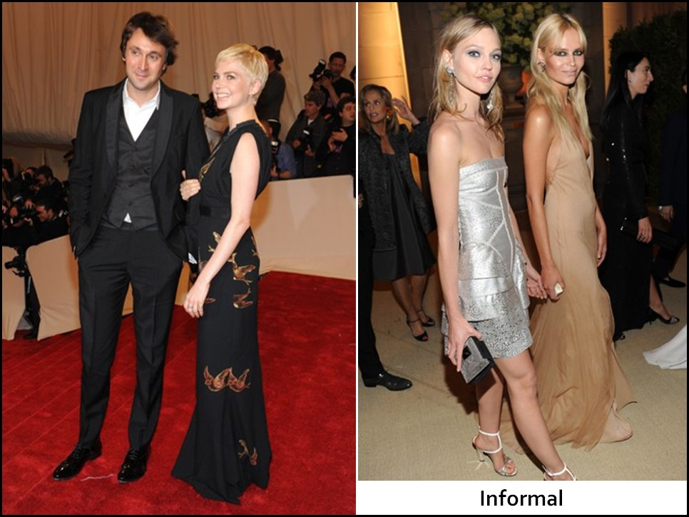 Informal wedding attire does NOT mean jeans or short skirts