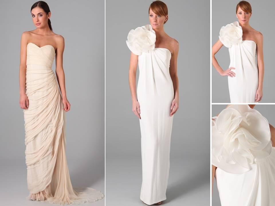 Modern And Sleek Column Wedding Dresses Featuring