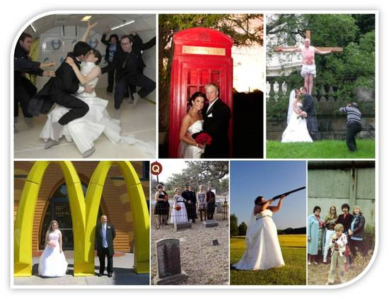 Weird wedding venues McDonalds a phone booth in space