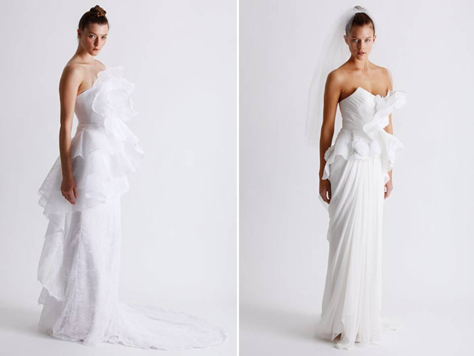 White Wedding Dresses From Marchesa's Spring 2011 Line