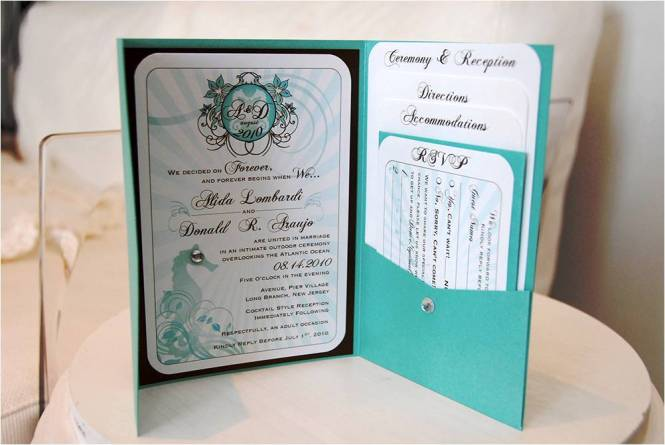 Gorgeous Beach Themed Wedding Invitations That Were Totally Diy