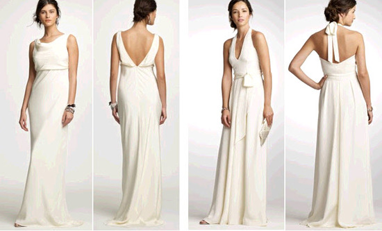 White J.Crew Wedding Dresses Perfect For The Unfussy Bride