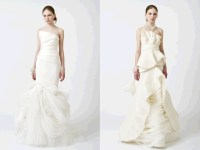 Gorgeous ivory strapless wedding dresses, with ...
