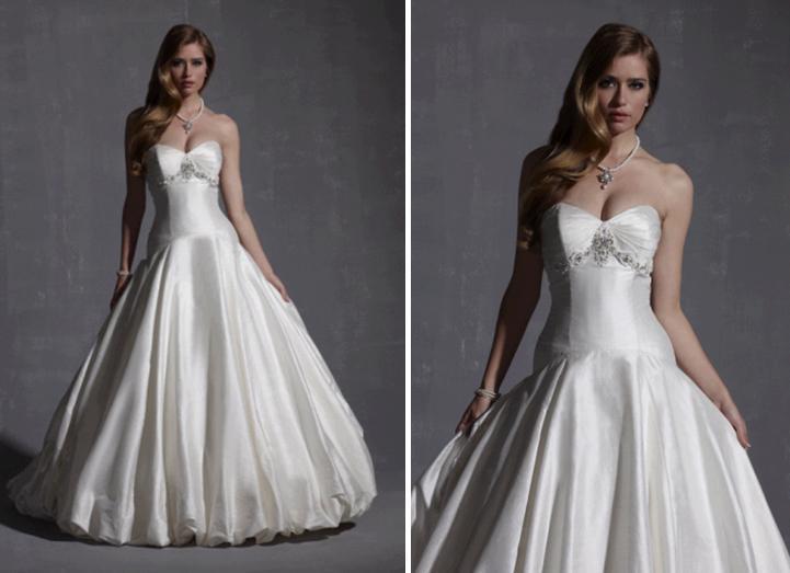 Strapless Sweetheart Neckline Wedding Dress With Full Ball
