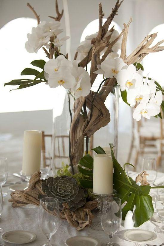 White Orchid Wedding Decor