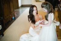 bombshell wedding hair brunette bride | OneWed.com