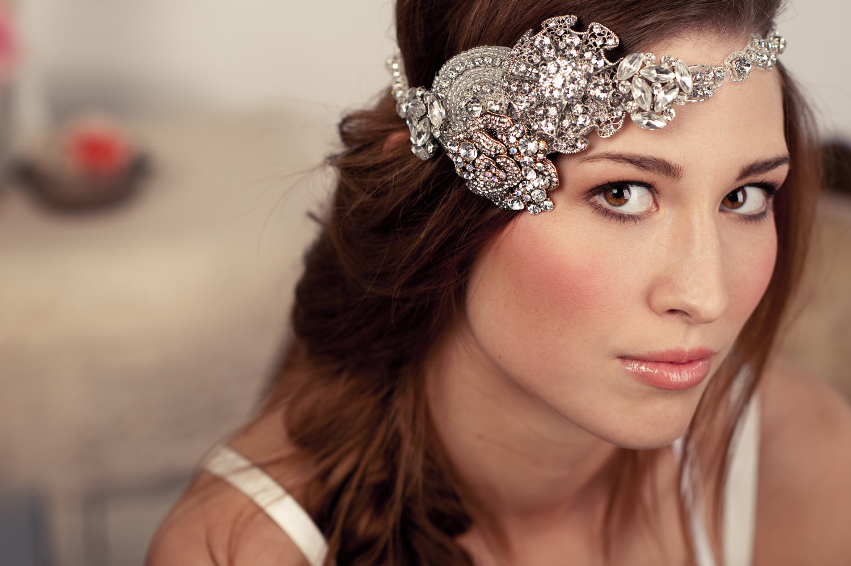 statement wedding hair accessories crystal bohemian tiara