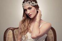 bohemian bride wedding hair accessories handmade beaded ...