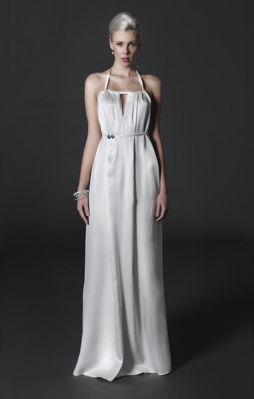 Silk Halter Wedding Dresses