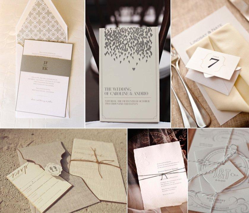Natural Neutral Wedding Invitations Stationery
