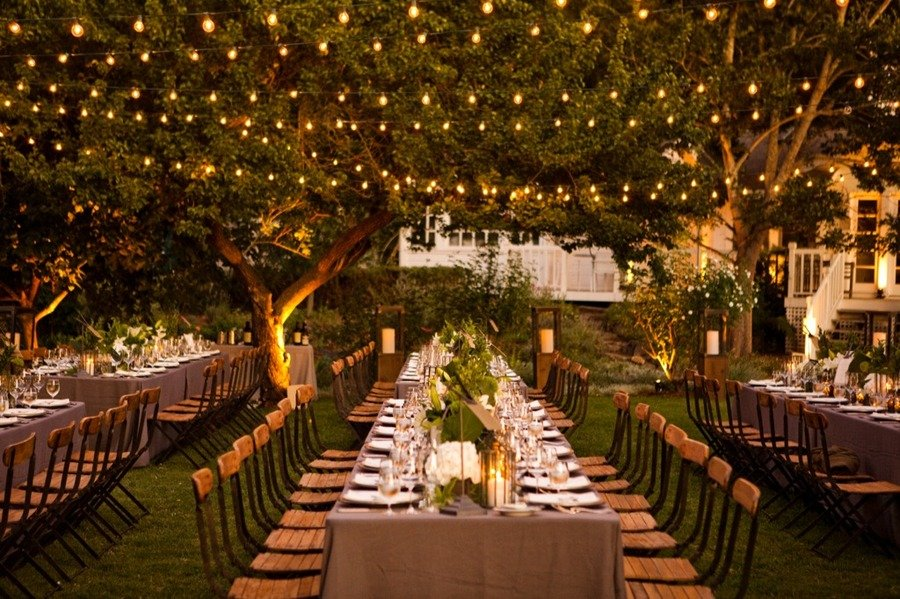 romantic outdoor wedding reception enchanted garden