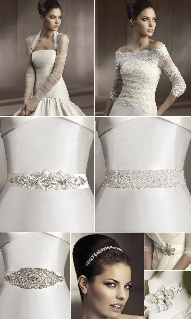 2012 bridal hair accessories and wedding dress sashes by