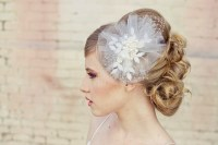 romantic bridal veil wedding hair accessories for vintage