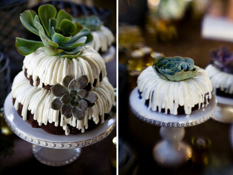 Unique Wedding Cakes Non Cake Reception Desserts Bundt Cake With