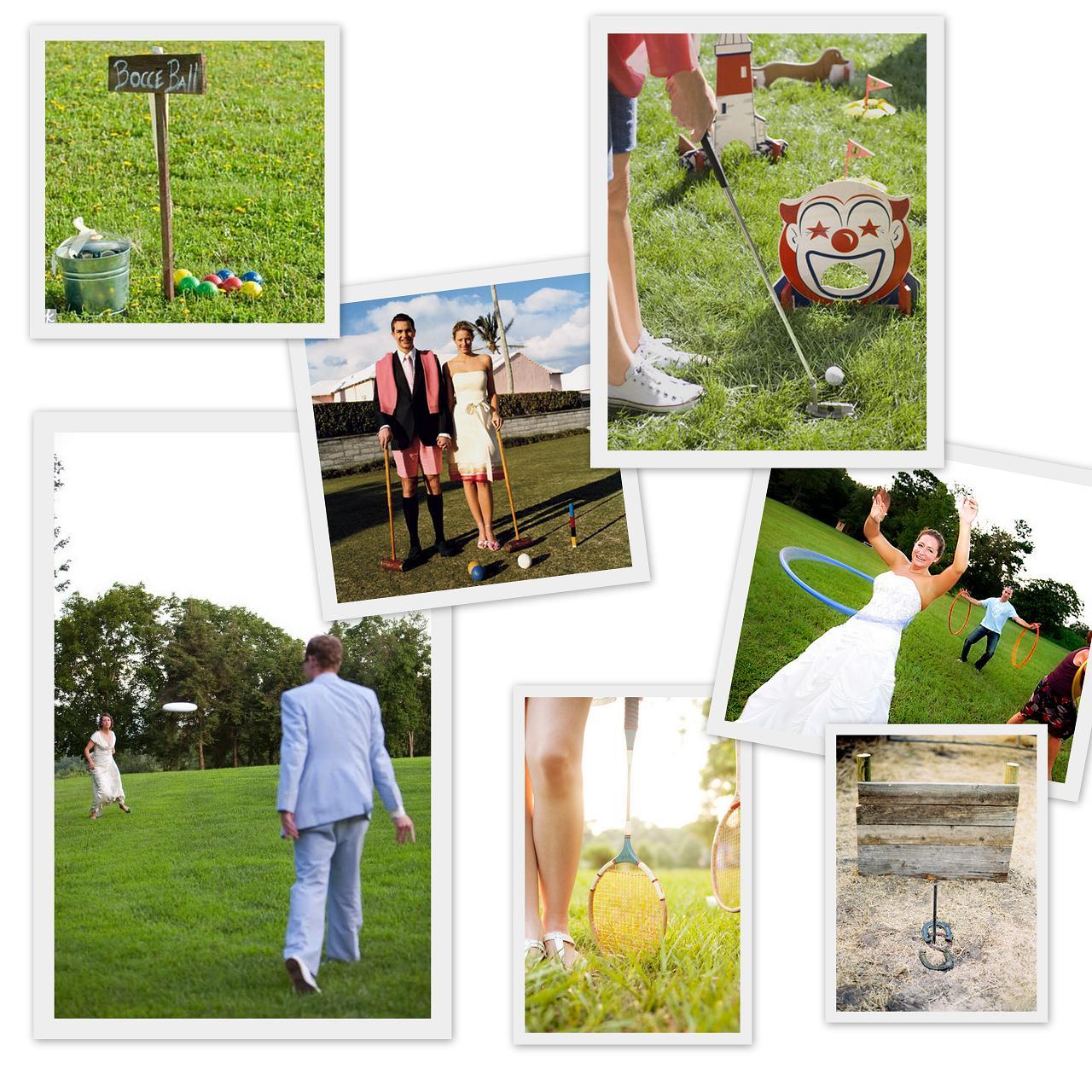 fun lawn games for outdoor weddings  OneWedcom