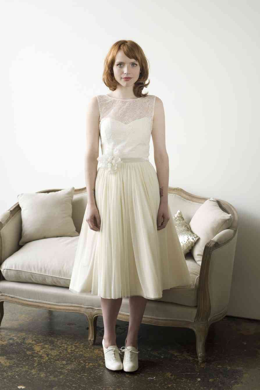 Vintage Inspired Wedding Dresses Tea Length
