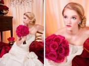 vintage-inspired bhldn bridal updo