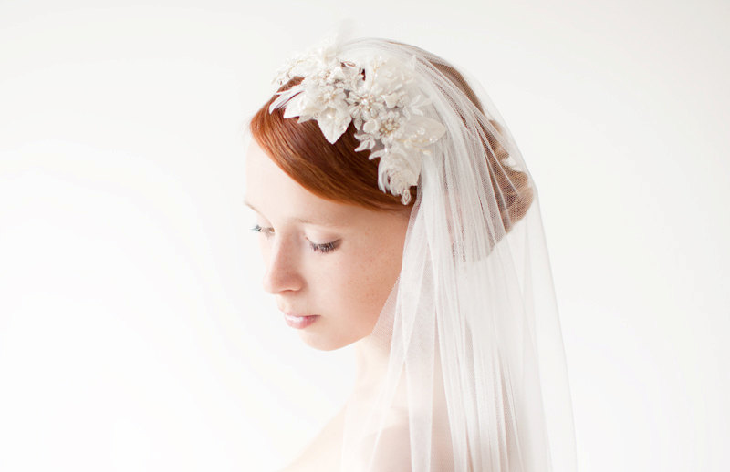 romantic bridal veil sibo design