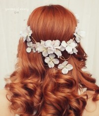 gardens of whimsy wedding hair wreath floral