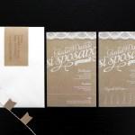 Wedding Invitation Kraft Paper