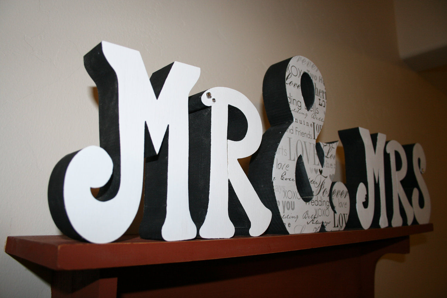 Creative Wedding Ideas From Etsy Mr And Mrs Decor Painted