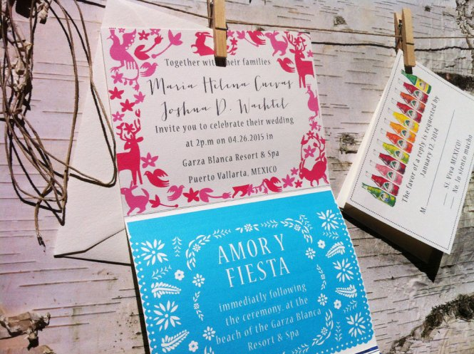 Mexico Wedding Invitation Map